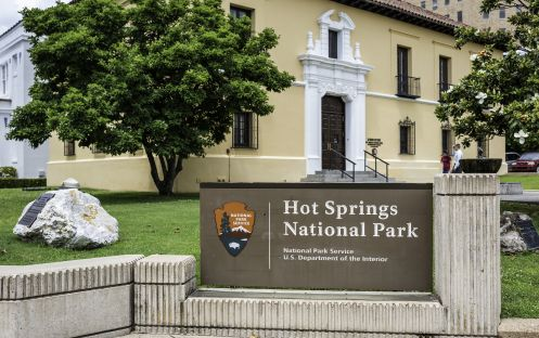 Hot Springs National Park, Arkansas known as a natural reservation