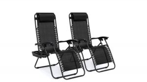 BCP Set of 2 Adjustable Steel Mesh Zero Gravity Lounge Chair Review 2020