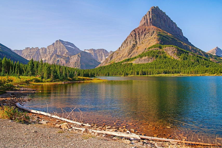 View of Swiftcurrent Lake from Grinnell Glacier Trail.Glacier National Park.Montana.USA